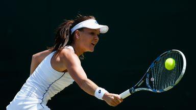 Agnieszka Radwanska in action at Wimbledon