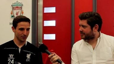 Liverpool midfielder Joe Allen answered some quick questions for Vauxhall Football TV