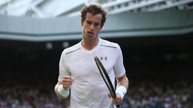 Andy Murray: Has advanced to the last 16 at Wimbledon