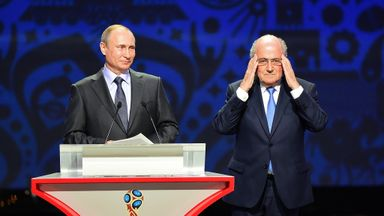 Vladimir Putin shared the stage with Sepp Blatter at Saturday's World Cup draw in St Petersburg
