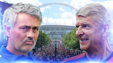Chelsea take on Arsenal in Sunday's Community Shield clash at Wembley