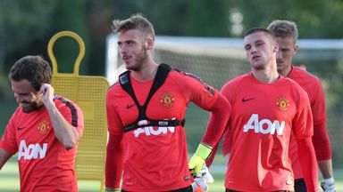 The future of David de Gea (centre) has been subject to constant speculation