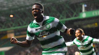 Celtic's Dedryck Boyata celebrates his goal.