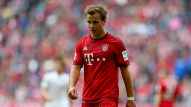 Mario Gotze scored 14 goals for Bayern Munich last season