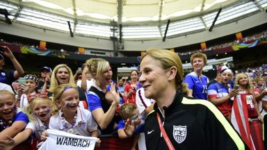 Jill Ellis claimed the award after leading the USA to World Cup glory