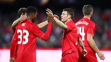 James Milner (right) set up both of Liverpool's goals in Helsinki