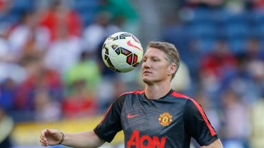 Bastian Schweinsteiger played for 45 minutes against Club America in Seattle