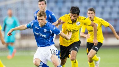 David Wotherspoon tries to find space for St Johnstone against Alashkert