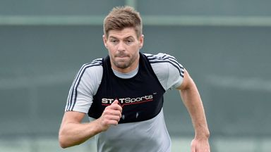 Steven Gerrard is fully focused as he trains with LA Galaxy