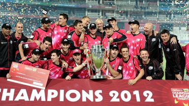 Sydney Sixers celebrate after winning 2012 Champions League T20