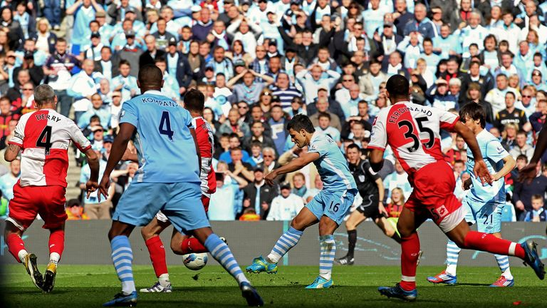 Sergio Aguero scored a dramatic winner for Manchester City against QPR