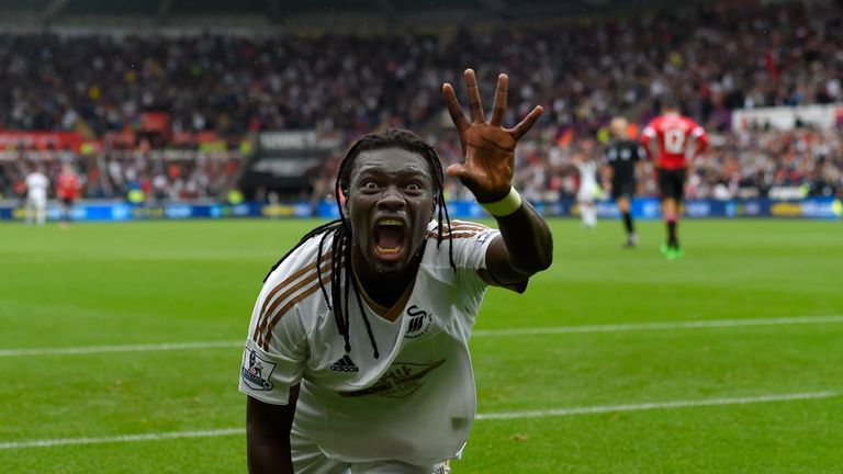 Bafetimbi Gomis has been able to show off his celebration in four straight league games