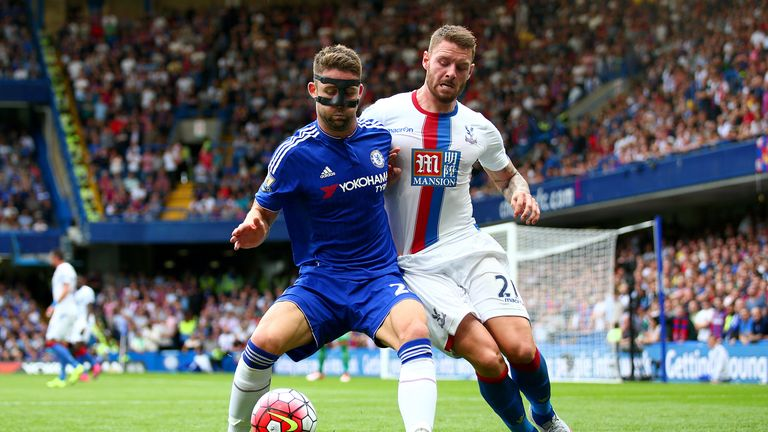 Defender Gary Cahill had to wear a mask earlier this season