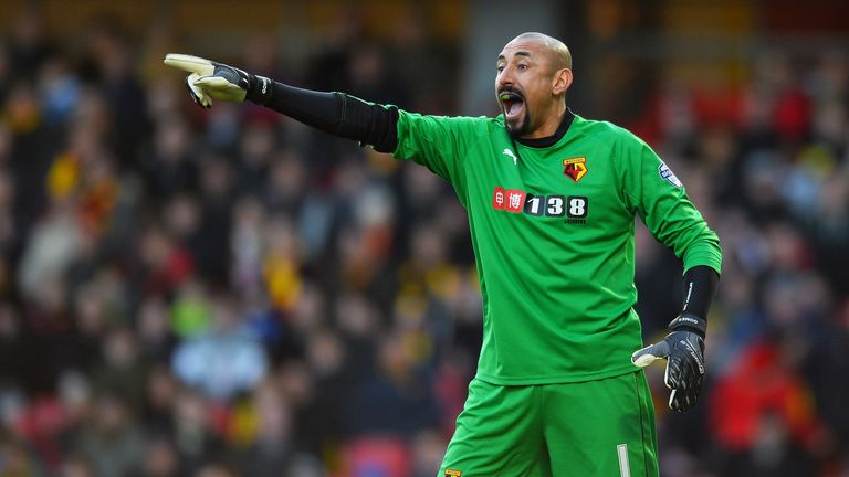 Heurelho Gomes sat on the bench as Costas Pantillimon played against Arsenal