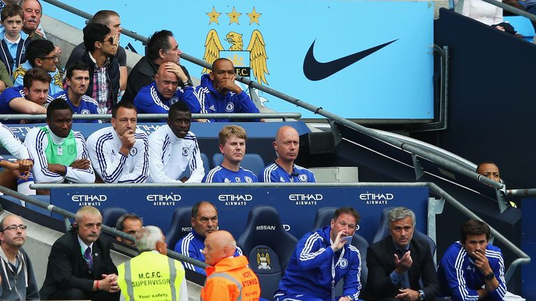 John Terry was substituted for the first time by Jose Mourinho at half-time