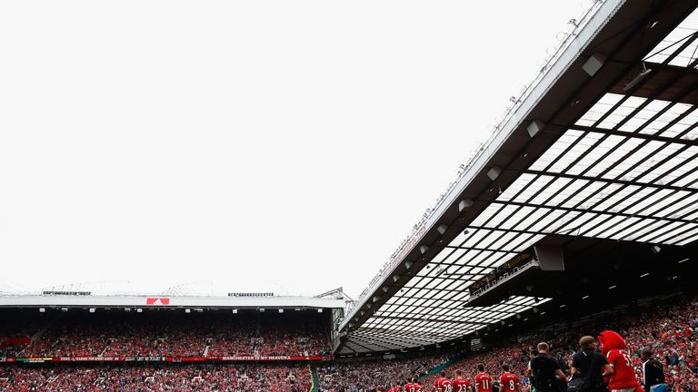 The South Stand (right) will be renamed after United legend Charlton