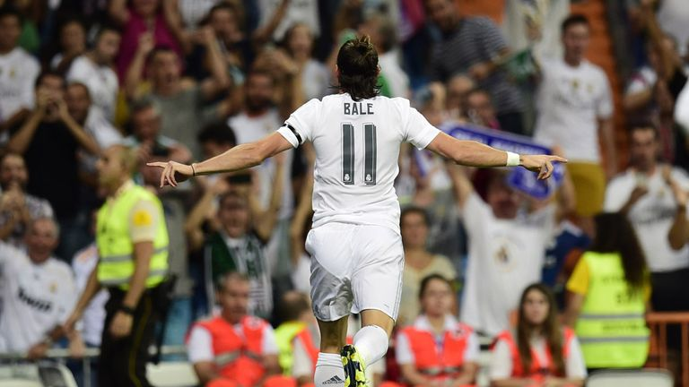 Real madrid 5 0 real betis gareth bale scores twice in madrid gareth bale celebrates after opening the scoring against real betis voltagebd Gallery