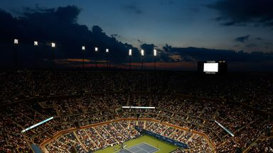 A general view of Arthur Ashe Stadium during the 2014 US Open at Flushing Meadows