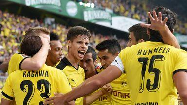 Celebrations for Borussia Dortmund