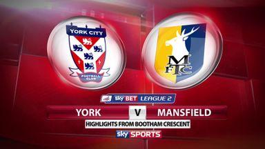 York 1-2 Mansfield