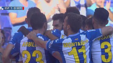 Salva Sevilla scored a superb free kick for Espanyol against Getafe