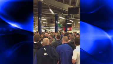 Everton fans singing