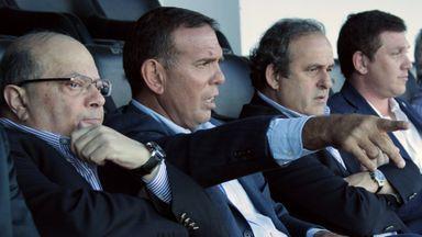 UEFA president Michel Platini (left) and Paraguay FA president Alejandro Dominguez