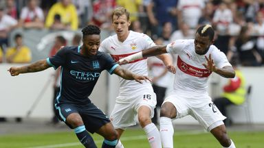 Raheem Sterling brought a positive end to City's dismal defeat in Stuttgart
