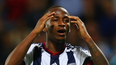 Saido Berahino has been forced to remain at West Brom