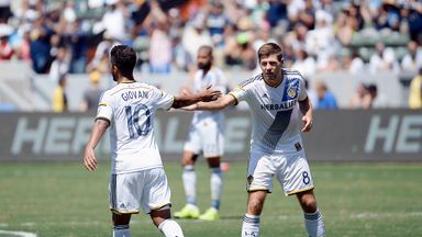 Giovani Dos Santos (left) and Steven Gerrard (right) have made good starts to life in LA