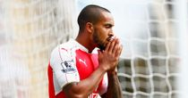 Theo Walcott: Reacts after missing a sitter