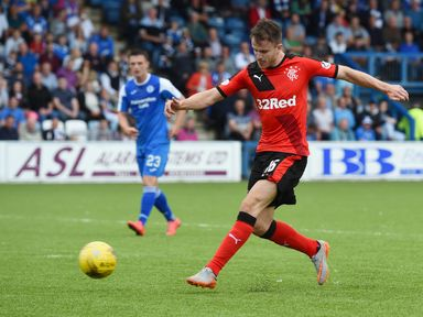 Andy Halliday opens the scoring for Rangers