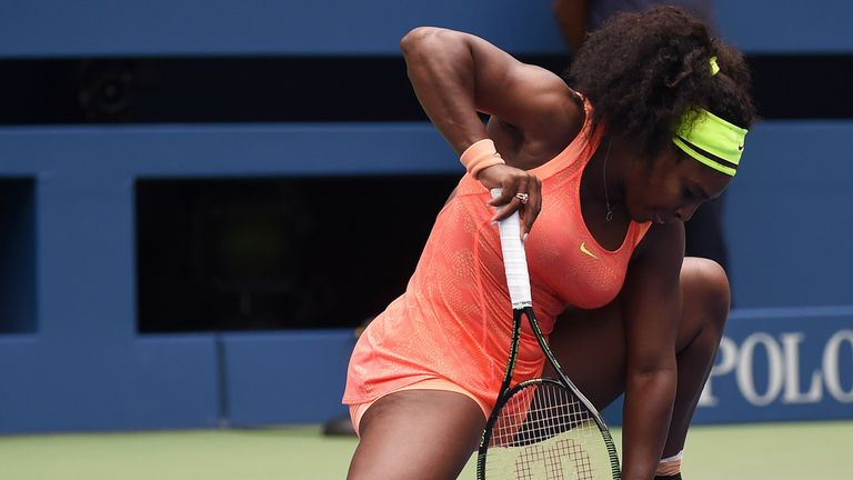 The defending champion appeared to struggle with nerves