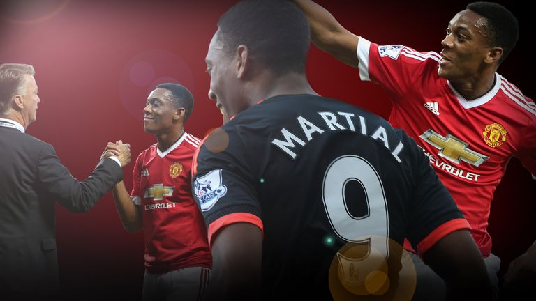 Anthony Martial has made 21 Premier League appearances this season