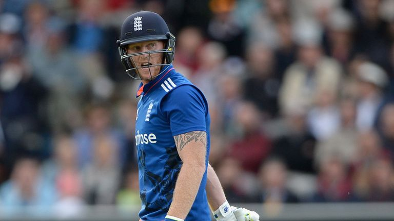 Ben Stokes trudges off after being given out obstructing the field at Lord's