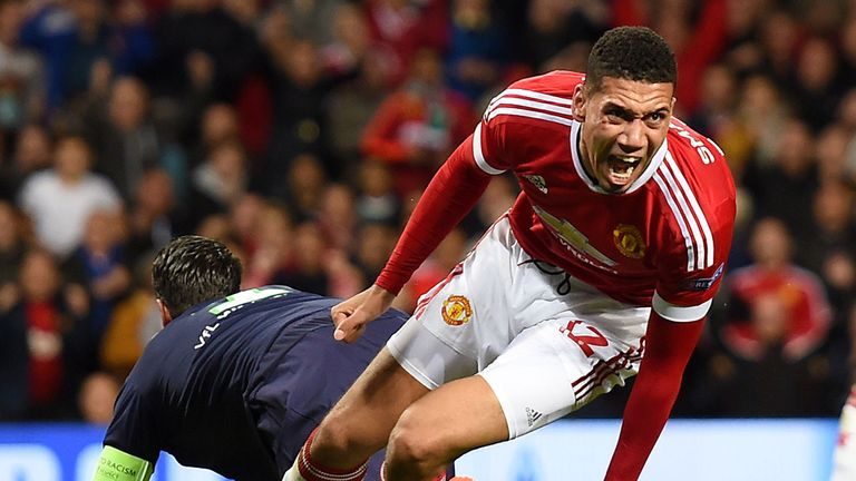 Chris Smalling has grown into an important defender for Manchester United