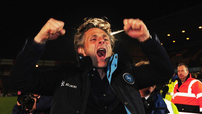 Gareth Ainsworth has Wycombe lying sixth in the League Two table