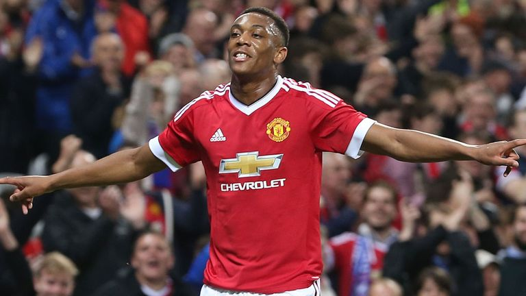 Anthony Martial has four goals in his four games for Manchester United