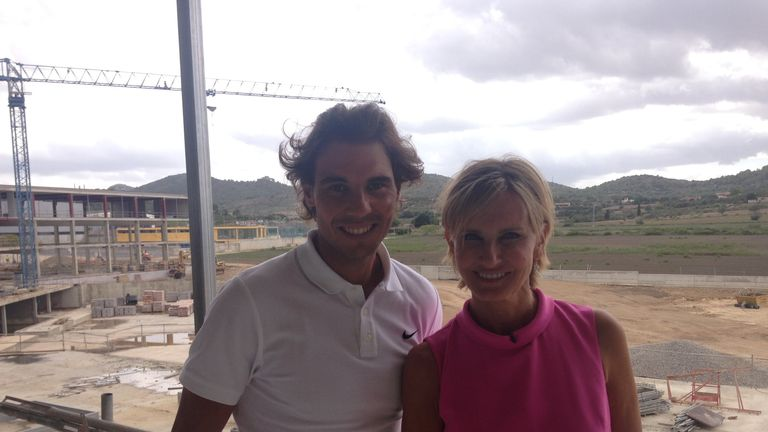 Nadal was speaking to Sky News' Jacquie Beltrao at his new tennis academy in Mallorca