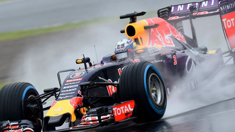 Daniil Kyvat was fastest for Red Bull in the wet