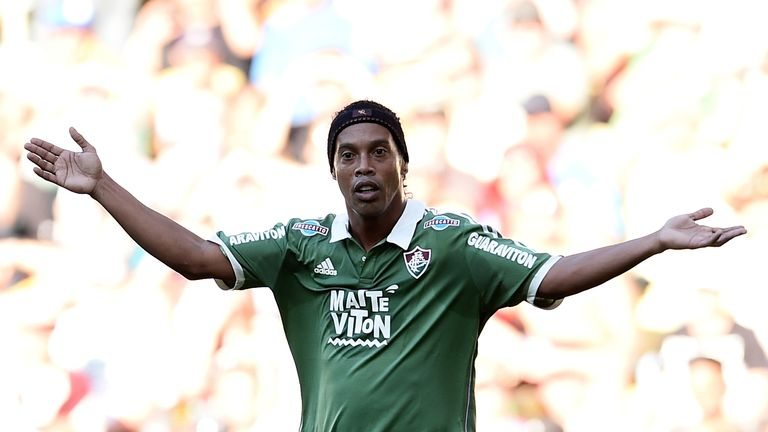 Ronaldinho left Fluminense after just three months at the Brazilian club