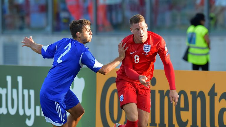 Ross Barkley (right) scored his first goal for England