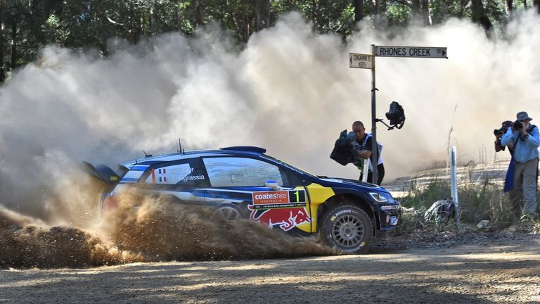 Sebastien Ogier in action in Rally Australia