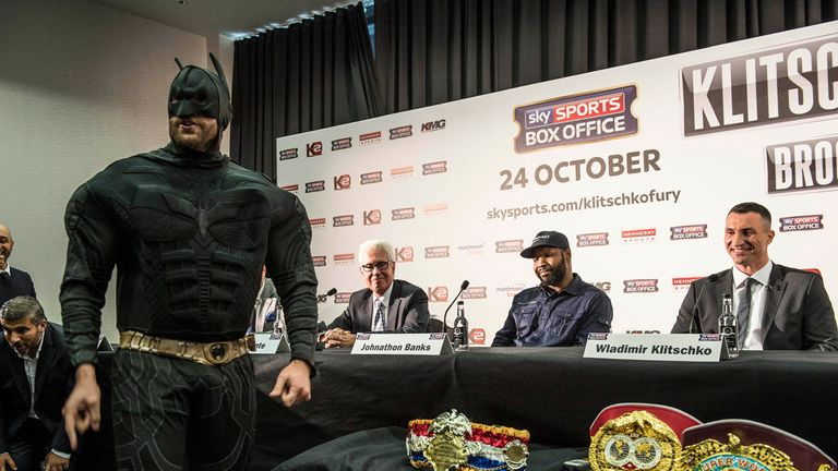 Tyson Fury once dressed up as Batman - and now he is touting the Caped Crusader as a possible opponent!