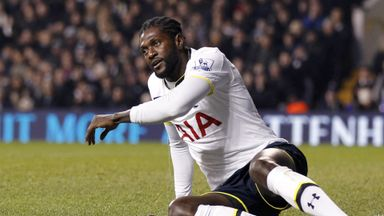Emmanuel Adebayor has a year left on his deal at Spurs
