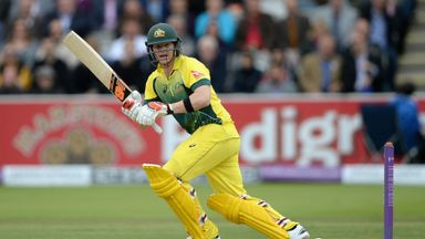 Australian captain Steven Smith bats during the 2nd Royal London One-Day International match between England and Australia