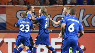 Swansea's Gylfi Sigurdsson scored the only goal for Iceland against the Netherlands