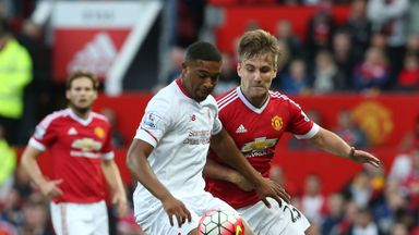 Jordon Ibe in action for Liverpool during Saturday's loss to Manchester United
