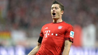 Bayern Munich's Polish striker Robert Lewandowski was on the scoresheet again - breaking more records