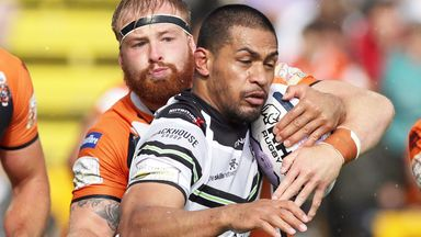 Willie Isa is challenged in a match against Castleford
